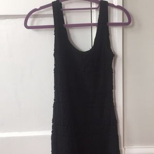 Black Lacey formal bodycon tank dress size small